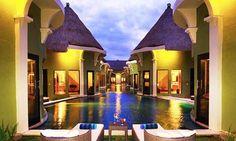 Lagoon Villa in Bali resort and spa.
