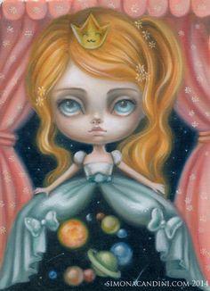 Thumbelina Elf Princess LIMITED EDITION print by SimonaCandiniArt