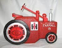 Tractor, I'm going to do a John Deree Cement Pavers, Painted Pavers, Painted Bricks, Brick Pavers, Brick Crafts, Stone Crafts, Pebble Painting, Painting Edges, Brick And Stone