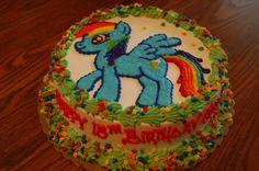 Rainbow Dash cake 3