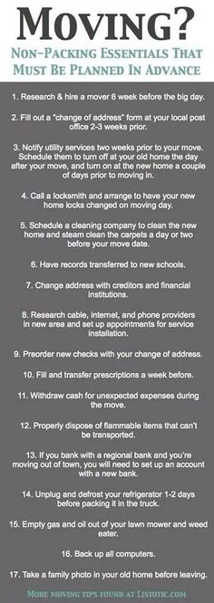 Are you moving? Here is a 17 Moving Tips checklist.