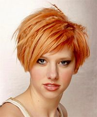 Alternative Short Straight Hairstyle - could do the cut, but not the color!