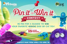 Pin our goDog Pin It To Win It image for a chance to win one of 15 Gnarly Neon Dog or Cat toys!