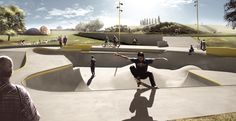 Roskilde's Rabalder Park is prone to flooding, so architecture firm Nordarch designed an awesome skate park that doubles as a rainwater harvesting system capable of storing 10 swimming pools worth of H2O!