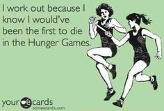 First Dead! This is no place for a girl out of shape! Lol! #Hungergames #catchingfire