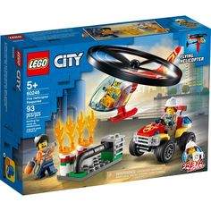 Shop LEGO City Fire Helicopter Response 60248 at Best Buy. Find low everyday prices and buy online for delivery or in-store pick-up. Lego City Fire, Lego Fire, Building Sets For Kids, Building Toys, Firefighter Toys, Lego Helicopter, Heroes Fire, Construction Lego, Van Lego