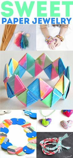 60+ Paper Crafts for kids and adults from the Rockin' Art Moms. Paper Jewelry projects