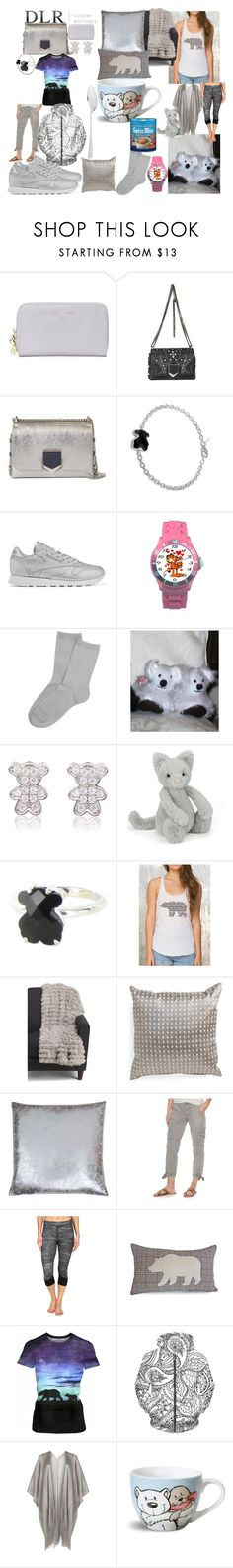 """""""DLR bears"""" by lerp ❤ liked on Polyvore featuring Jimmy Choo, TOUS, Reebok, Jellycat, SONOMA Goods for Life, adidas, Voulez Vous and Carrs"""