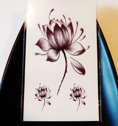 Lotus Flower,Infinity,Crowns,Birds,Stars Temporary Tattoos