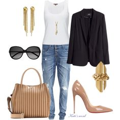 A fashion look from July 2014 featuring jersey tank, long blazer jacket and loose fit boyfriend jeans. Browse and shop related looks. Long Blazer Jacket, Boyfriend Jeans, Fashion Looks, Clothes For Women, Polyvore, Jackets, Outfits, Shopping, Outerwear Women