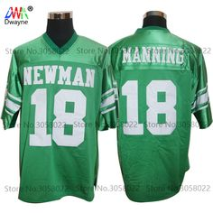 03b70386 Vintage Cheap American Football Jersey Brett Favre 18 Eli Manning Isidore  Newman HS Throwback jerseys Retro Stitched Shirts
