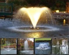 5-in-1 Aerator Fountain (With Light Set).  Suitable for aerating large ponds and lakes up to 1/2 acre (around 2000m2).  4 decorative displays are included in addition to a horizontal mixer nozzle.