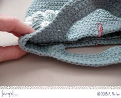 Tutorial: coser un forro en una bolsa de ganchillo