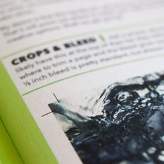 Keep your printers happy – add bleed & crop marks to your artwork. 3mm or 1/8 inch of bleed is pretty typical. #print
