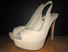 * * * ALDO Slingpumps Peeptoes offwhite, Gr.38 * * * Aldo, Off White, Peeps, Peep Toe, Platform, Ebay, Shoes, Fashion, Clothing Accessories