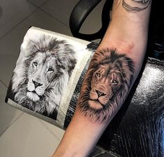 Among the tattoo models for men was the most preferred lion tattoos. The most popular lion tattoo models in 2018 Lion Forearm Tattoos, Lion Head Tattoos, Leo Tattoos, Animal Tattoos, Cute Tattoos, Body Art Tattoos, Girl Tattoos, Small Tattoos, Wrist Tattoo