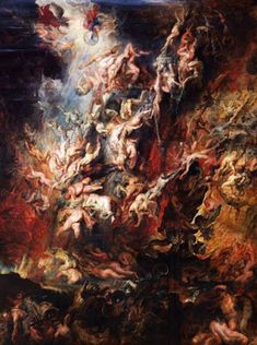 The Fall of the Damned - (Artist: Peter Paul Rubens c. - Masterpiece Classic (Art Print, Giclees, Wood & Metal Signs, Tote Bag, Towel) - Monica's Secret World Peter Paul Rubens, Rubens Paintings, Rembrandt Paintings, Art Paintings, Baroque Painting, Baroque Art, Renaissance Kunst, Renaissance Paintings, Stock Art