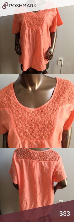 🔥Closet Liquidation Sale🔥❗️Final Price❗️ Condition: Brand new with tags  Color: Orangy-coral   MSRP: $44  Size: Available in small, medium & large (mannequin is wearing 1X, which is no longer available) Tops Blouses