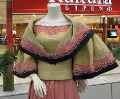 kimona and panuelo made out of abaca
