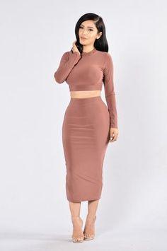 Rock My Body Skirt - Red Brown