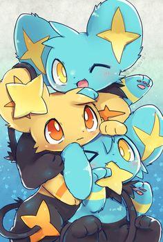 Shinx y Shinx Shiny Cat Pokemon, Pokemon Eeveelutions, Pokemon Memes, Pokemon Fan Art, Cute Animal Drawings, Cute Drawings, Pokemon Mignon, Photo Pokémon, Cute Pokemon Pictures