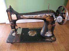 Vintage Singer Sewing Machine Treadle type by VintageJunkGypsyShop