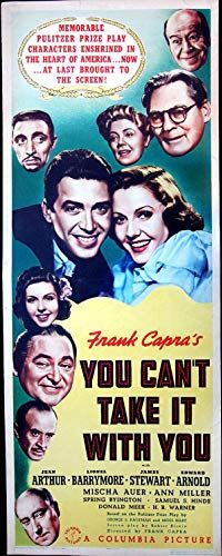 You Can't Take It With You Floating heads were really popular on movie posters of the time. Conveys the cookiness of the film, I suppose, but also creeps me out just a little. Spring Byington, Jean Arthur, Frank Capra, Heart Of America, Ann Miller, Diamond Wedding Sets, Comedy Films, Columbia Pictures, Its A Wonderful Life