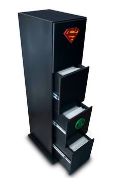 Comic storage: I love this idea but my husband has  2 6' tall x 2' wide shelves filled with those ugly white cardboard boxes in our office/guest room. *sigh* Hoping he'll be open to this idea!