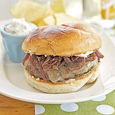 Cheddar Burgers with Red Onion Jam | MyRecipes
