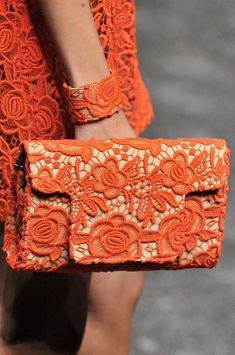 hepsylone - orange and lace Orange Mode, Orange You Glad, Point Lace, Orange Fashion, Orange Crush, Orange Is The New Black, Mode Vintage, Happy Colors, Irish Crochet