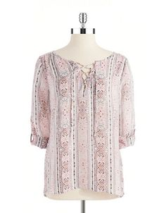 Women's Clothing | Blouses & Button Downs | Paisley Peasant Blouse | Lord and Taylor