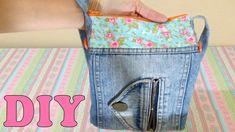 Do Lixo ao Luxo : Bolsa de Calça Jeans Reciclada - DIY Artesanato