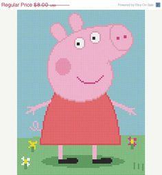 Peppa pig cross stitch pattern