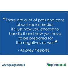 """""""There are a lot of pros and cons about social media; it's just how you choose to handle it and how you have to be prepared for the negatives as well"""" - Aubrey Peeples"""