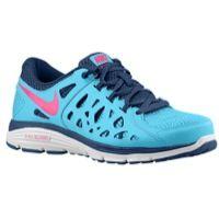 Nike Dual Fusion Run 2 - Women's - Light Blue / Navy