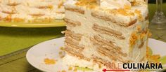 Receita de semifrio de bolacha. Descubra como preparar a nossa receita de semifrio de bolacha de maneira prática e deliciosa com a TeleCulinária!