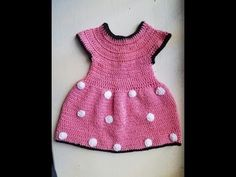 Vestido a crochet de Minnie mouse - YouTube