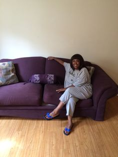 A satisfied client in her newly delivered couch! New Life, Toddler Bed, Couch, Furniture, Home Decor, Homemade Home Decor, Sofa, Couches, Home Furnishings