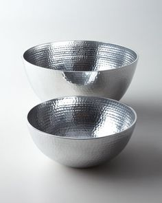 """""""Hammered"""" Bowls by Towle at Horchow."""