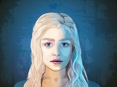 Daenerys Targaryen – Mutter der Drachen hier im Grafik Pop Art Stil