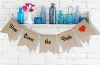 Description: It is perfect for party, wedding decorate or other celebration Material: Hessian Burlap