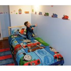 Roommates Rmk1035scs Thomas The Tank Engine And Friends Peel And Stick Wall Decals Amazon