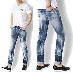 Ripped Jeans, Denim Jeans, Skinny Jeans, Streetwear Jeans, Fashion Pants, Mens Fashion, Denim Art, Diesel Jeans, Boardshorts