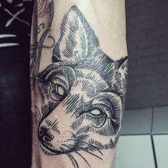 Fox tattoo by Galya Gisca. Amsterdam