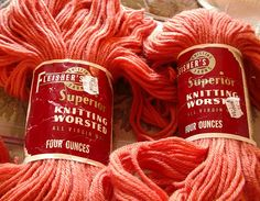 Fleisher's Knitting Worsted.