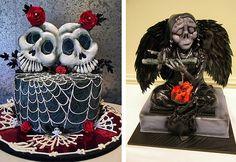 Veja aqui O trabalho de diversos Cake designers que criaram espantosos bolos com a temática Halloween.