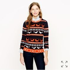 J.Crew Farmyard Fair Isle Sweater Love the pattern of this pet-friendly Fair Isle design (it's the little details that make the biggest impact). Crafted in cozy wool with a touch of angora for softness, it's a sweater you'll wear—and love—for years to come! J. Crew Sweaters