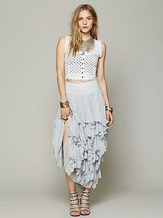 Free people- 5 layer maxi skirt