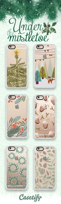 Kiss me under the mistletoe. Shop these #Christmas Holidays ready cases here: http://www.casetify.com/artworks/QNyiL71xRb