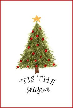 Lovely site with free Christmas printables | Tis the Season | DIY Wall Art, Crafts, Cards | onsuttonplace.com